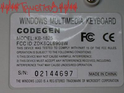 Наклейка с маркировкой клавиатуры